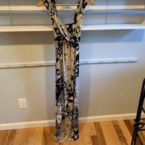 Hale Bob long dress with tie back. Size S